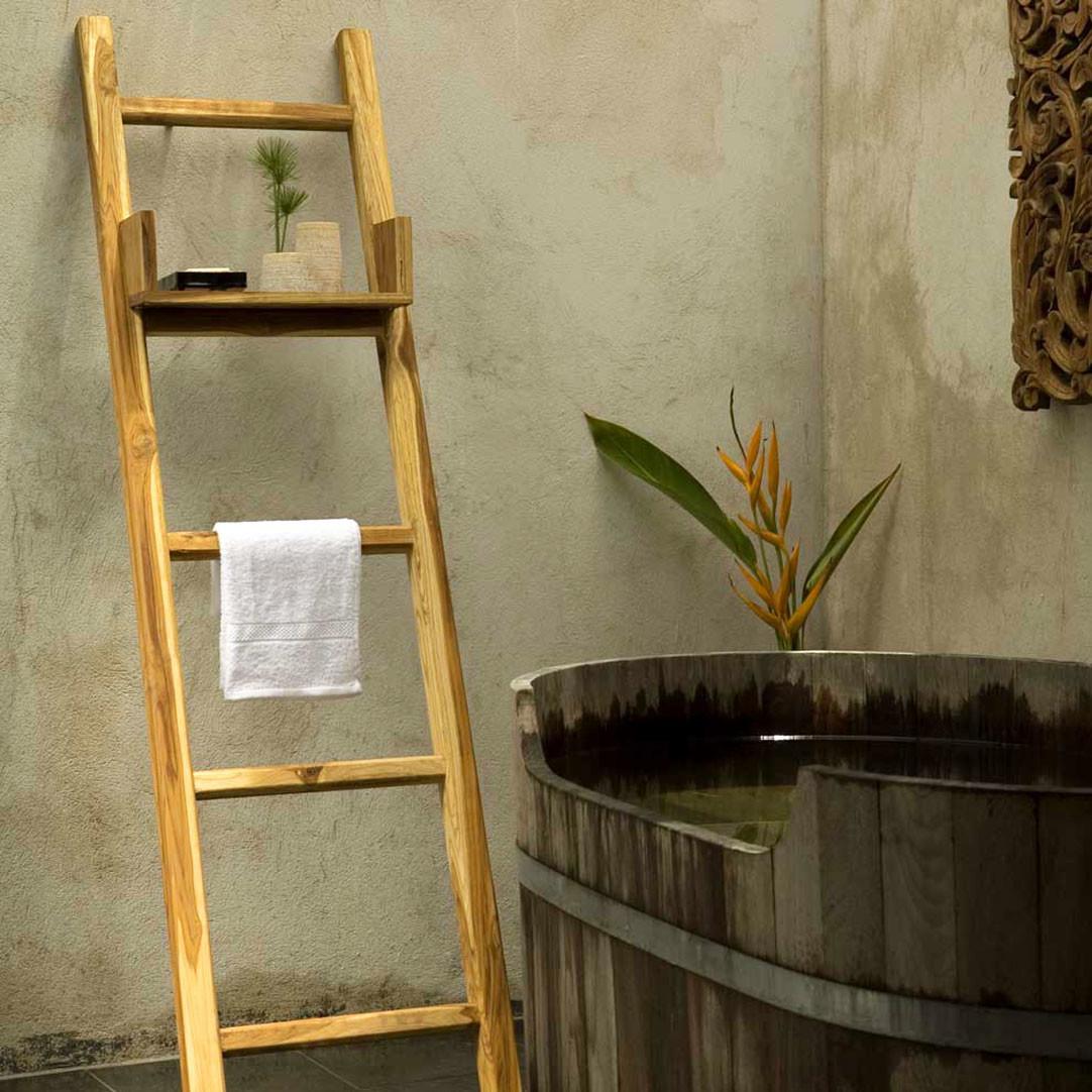 Teak Towel Ladder