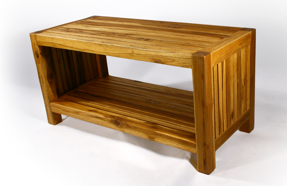 The Teak Slat Coffee Table Strata Furniture